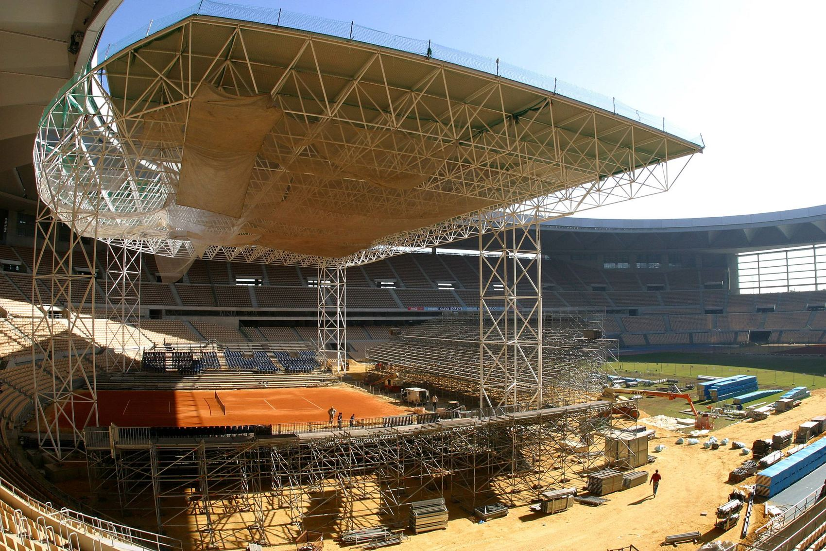 Cubierta Estadio Ol 237 Mpico Sevilla Copa Davis Lanik
