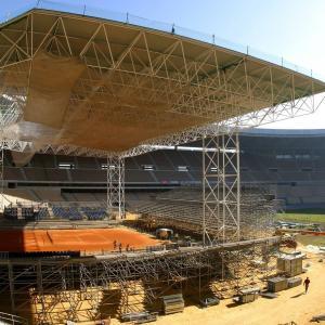Cubierta Estadio Olímpico Sevilla - Copa Davis